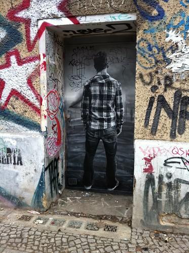 Man in a doorway
