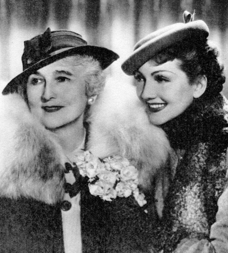 Claudette Colbert and her mother