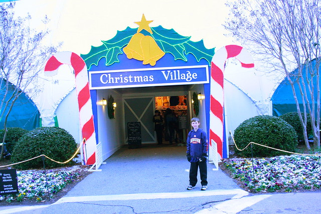 Christmas Village before Fantasy in Lights