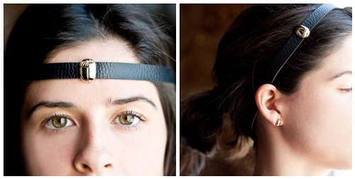 Isis Scarab Collection Leather Headband Mosaic