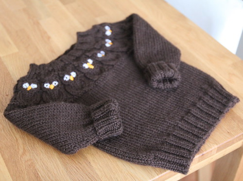 Owlet baby sweater