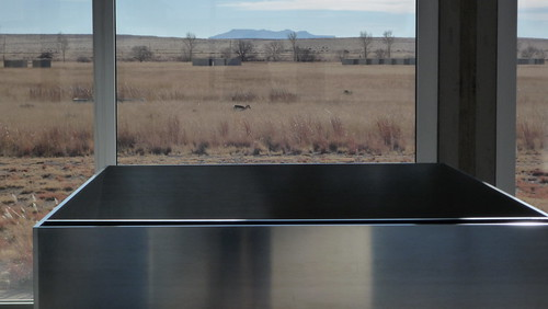 Judd, aluminum. Pronghorn antelope. Judd, concrete. Remains of volcano.