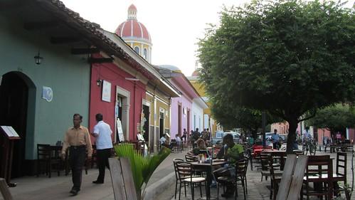 A pedestrian only street in Granada
