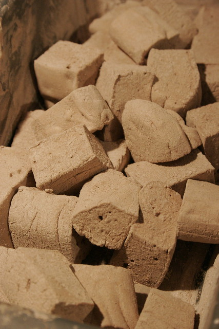more closeup detail of homemade cocoa marshmallows