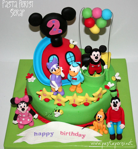 mickey mouse clup house pastası-selin