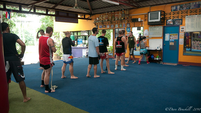 signing in for Muay Thai in Thailand