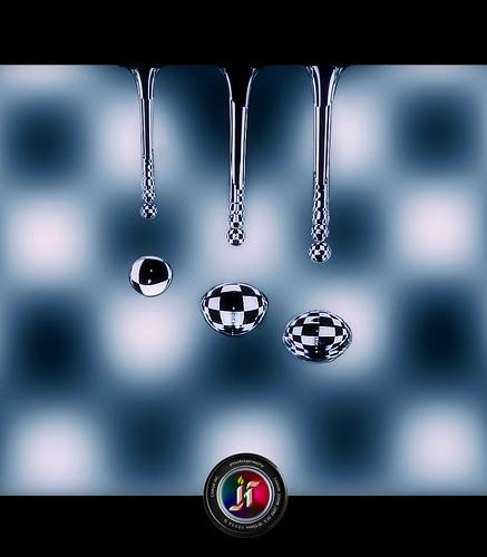 Water drop feat. Chess board