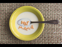 I love it when my breakfast says nice things to me (Jaime973) Tags: breakfast canon raw thankyou spoon bowl hotmama 352 lololol 2470mmf28 alphabits shadesofmediocrityactions forallyourwellwishes