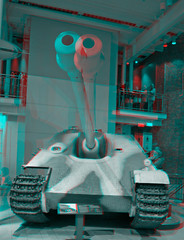 3d_iwm_28 (The_Jon_M) Tags: uk england urban london stereogram 3d war december tank hunting anaglyph dec destroyer german imperial panther lambeth 3ds museam 2010 bedlam jagdpanther redcyan imperialwarmuseam