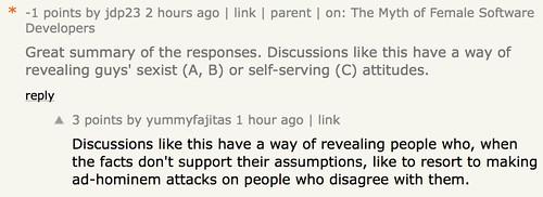 yummyfajitas doesn't understand ad-hominem