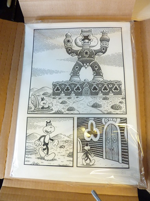 Jim Woodring original art for Congress of the Animals