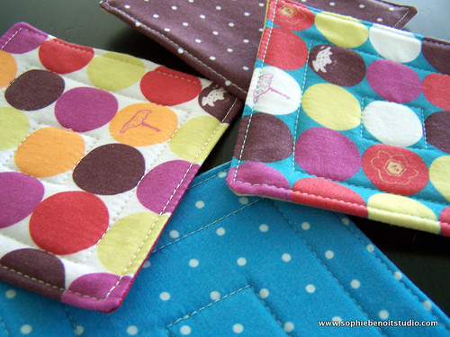 Organic Fabric Quilted Coasters
