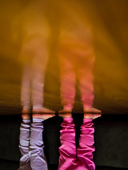 019/365 - January 19, 2011- Standing on the Ceiling (Shane Woodall) Tags: newyork reflection feet brooklyn coneyisland foot twins lily floor january ella 365 inverted 2011 project365 olympusepl1 3652011 shanewoodallphotography