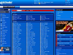 AllYouBet Sportsbook Lobby