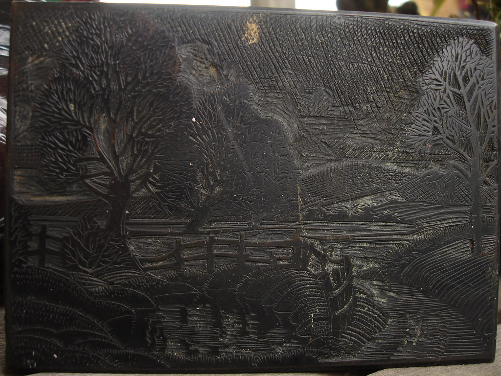 Found wood engraving block 1930s?