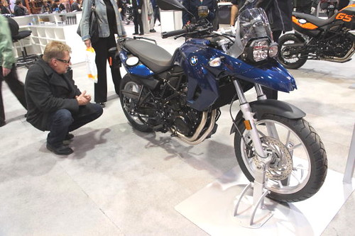 BMW bike, Vancouver Motorcycle Show 2011, Tradex Exhibition Centre, Abbotsford, BC