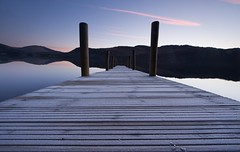 So Near, So Far (Duncan George) Tags: uk winter england landscape dawn landscapes frost britain jetty lakedistrict cumbria derwentwater keswick waterscape lakedistrictnationalpark ferrylanding brandelhowpark highbrandelhowjetty