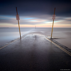 Strictly NO Bathing (Gary Newman) Tags: uk longexposure sea england somerset posts slipway burnhamonsea yellowlines nd110 artlibres