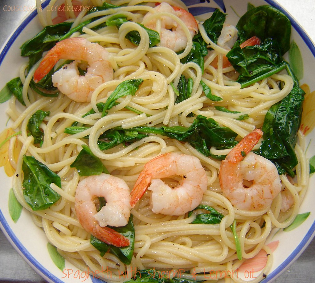 Spaghetti with Shrimp & Lemon Oil 1
