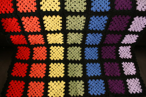 Granny Square Rainbow Blanket