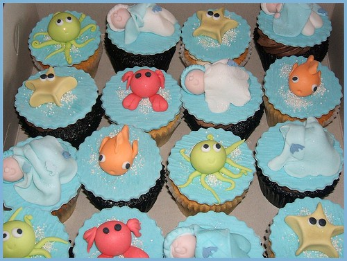 the cupcake tarts under the sea themed babyshower cuppies