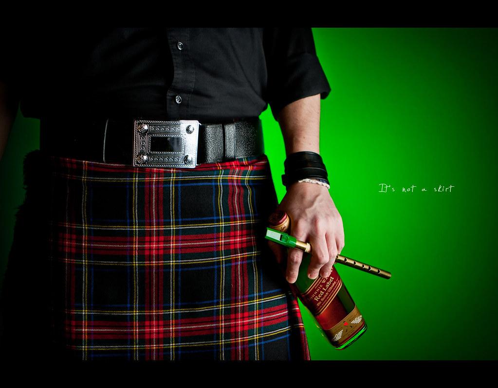 Day 171, 171/365, Project 365, Self Portrait, Strobist, kilt, skirt, whiskey, Whisky, tin whistle, whistle, ourdailychallenge, odc, belt, beltbuckle, Johnnie Walker, kilt, plaid, project365,