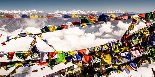 Le Tibet vu du sommet de l'Ama Yangri (3770m)