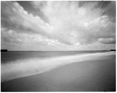 Low Season (Vincenzo Caniparoli) Tags: analog argentique analogico bw blackandwithe biancoenero forostenopeico foma fomapan100 fomadon grandeformato homemadepinhole homemadepinholecamera homemade largeformat monochrome pinhole paesaggio stenopeico sardegna stenopeica sardinia torregrande