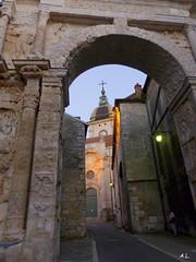 La porte noire (a.laruelle) Tags: arcdetriomphe besanon cathdrale