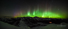 Night Light (Traylor Photography) Tags: alaska night snowcapped climb willow mountaintop reflection mountains panorama snow hatcherspass wasilla auroraborealis palmer hike footprints glow independencemine northernlights anchorage