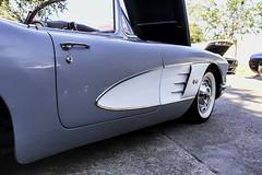 Graceful (Scott Sanford) Tags: 6d automibile canon car chrome classic ef2470f28l eos libertycounty outdoor shine sunlight texas topazlabs vintage 1960corvetteconvertible numbersmatching original