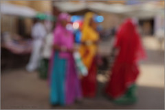 colours of rajasthan - iii, jaisalmer (nevil zaveri ( away :)) Tags: zaveri thar jaisalmer people woman women colours colors defocus abstract street rajasthan india images stockimages nevil nevilzaveri stock photo yellow pink photography photographs red blue green bokeh