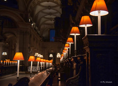 Choir lamps (plvision) Tags: londres london photography photographie choir lamps night stpaulscathedral stpaul cathedral cathedrale perspective architecture design interior inside church