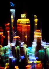 Metropolis I (Reciprocity) Tags: city light film colors 35mm colours plastic refraction metropolis analogue caustics photogram diffraction lightart shadowgraph experimentalphotography reciprocity refractograph fujit64 lenslessphotography s1352 lms131 bs568