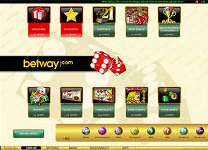 Betway Casino Lobby