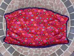 The lining pinned in place (crochetbug13) Tags: purple crochet cascade220 fatbag samantasfatbag