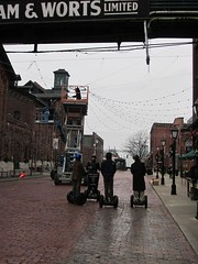 The Distillery District is the only place in Toronto where the usage of Segway scooters are allowed