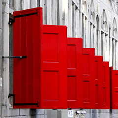 - Red Rule - (Jacqueline ter Haar) Tags: red rood windows utrecht luiken absolute rouge repeterend explore ritmisch row rode rhythm vibrant striking color shutter framing bold colors shade donkerstraat huiszoudenbalch rijksmonument