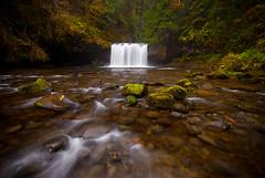 Happiness is a Cold Waterfall (Benjamin Postlewait) Tags: oregon waterfall waterfalls pacificnorthwest upperbuttecreekfalls startedrainingandhadtobattlethewaterdroplets firsttripdrivinginmynewfj