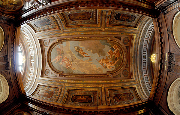 Ceiling artwork inside New York Public Library, 42nd Street, NYC by Karen Strunks
