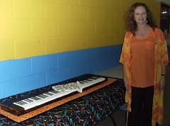 Miss Kathy with her piano cake (bronte.cakes (Bron)) Tags: music cake image nt chocolate piano katherine teacher edible brontecakes