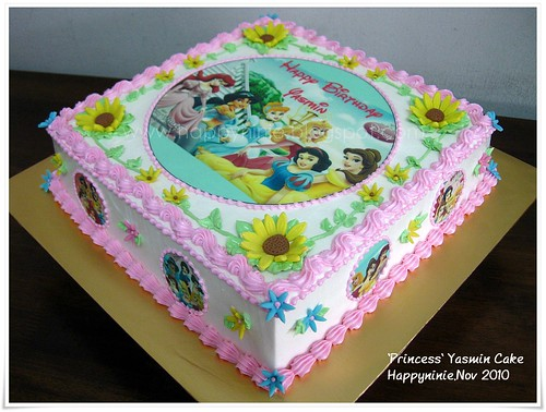 Princess theme birthday Cake,using edible image, ordered by Puan ...
