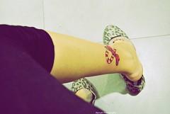 (.MartaR.) Tags: pink red girl tattoo foot nikon shoes candy leg rosa bow marta rosso piedi scarpe ragazza fiocco gamba d60 ballerine