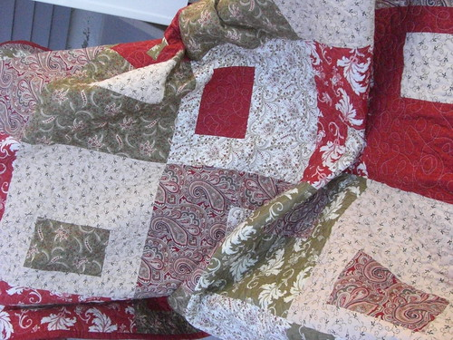 Draped Finished quilt