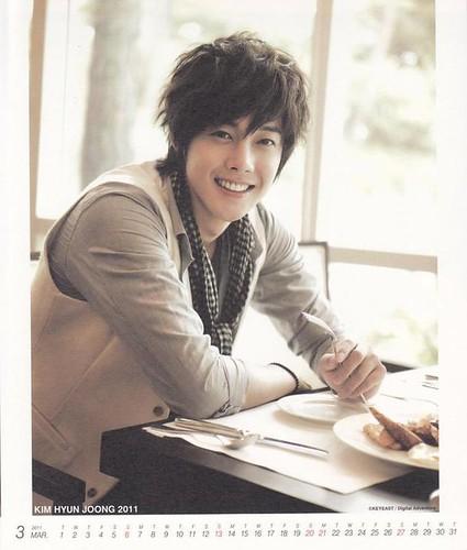 Kim Hyun Joong 2011 Calendar March