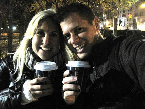 hot chocolate in Central Park