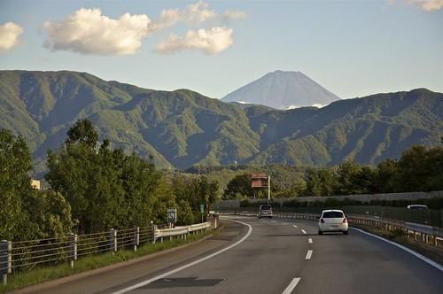 El Fuji desde la carretera