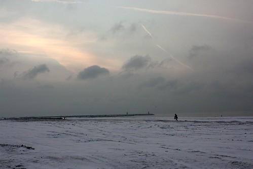 Neve na praia de Scheveningen (Snow on the beach)