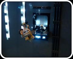 breaking through... (Legoagogo) Tags: starwars lego stormtrooper darthvader lukeskywalker deathstar moc afol