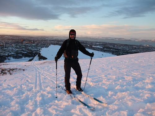 Ski touring on Arthur's Seat